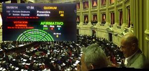 (foto) Por unanimidad Diputados aprob� la reforma de Ley del Bombero Voluntario