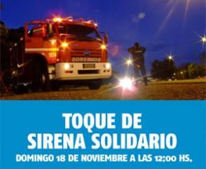 Los Bomberos de todo el país y de América realizarán un toque de sirena solidario por las víctimas de accidentes de tránsito