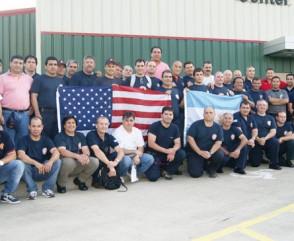 Capacitación de bomberos argentinos en la Academia de Bomberos de Houston