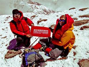 Bomberos de Tucumán hicieron Cumbre en el Aconcagua