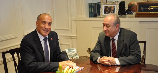 El presidente de Bomberos Carlos Ferlise se reunió con el Ministro Puricelli