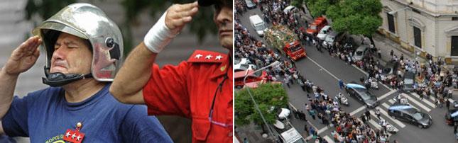 El Sistema Nacional de Bomberos despidió a los héroes de la tragedia de Barracas