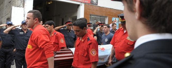 El último adiós a Facundo Ambrosi, héroe y bombero voluntario