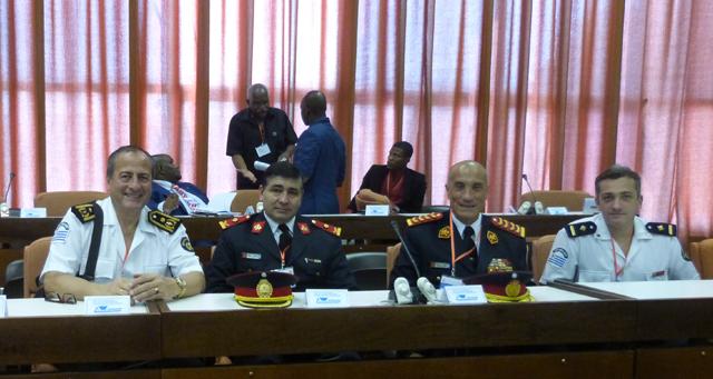 Ferlise y representantes de la Academia Nacional participaron del IX Congreso Internacional sobre Desastres y la V Conferencia Internacional de Bomberos en Cuba