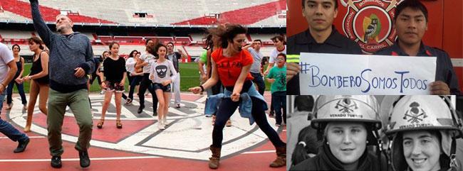#BailemosTodos bajo el lema #BomberosSomosTodos