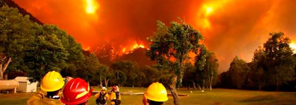 Incendios en Chubut: El Sistema Nacional de bomberos voluntarios en alerta