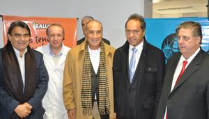 Ferlise estuvo presente en la inauguración de un Centro de Salud en Bernal