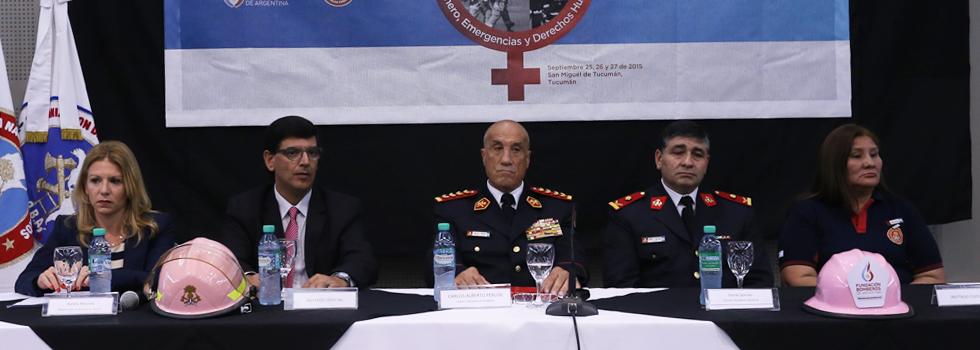 Multitudinaria apertura de las III Jornadas Internacionales de Género, Emergencias y Derechos Humanos de Bomberos Voluntarios en Tucumán