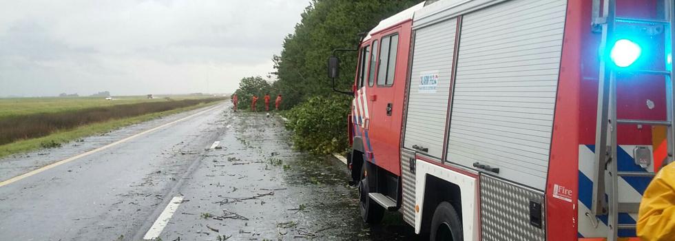 Los bomberos voluntarios presentes en las rutas argentinas