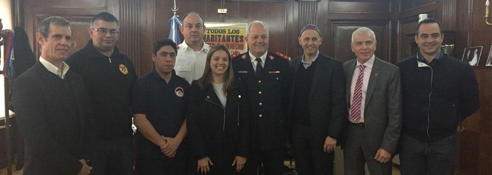 Importante reunión con el Servicio Nacional de Manejo del Fuego