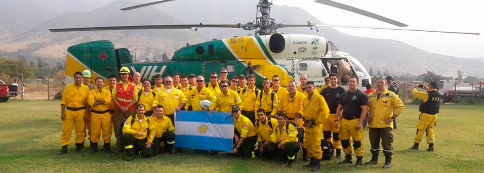 Los bomberos voluntarios ya están trabajando en los incendios de Chile