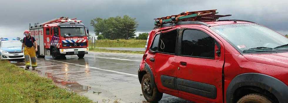 En Entre Ríos los Bomberos atendieron más 80 servicios por las intensas lluvias