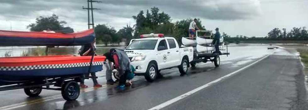 Inundaciones en Tucumán: intervención de la Brigada Federativa de Rescate Acuático