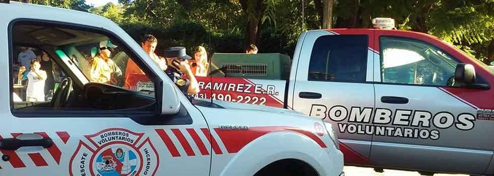 Bomberos Voluntarios colaboran en la búsqueda de Micaela García