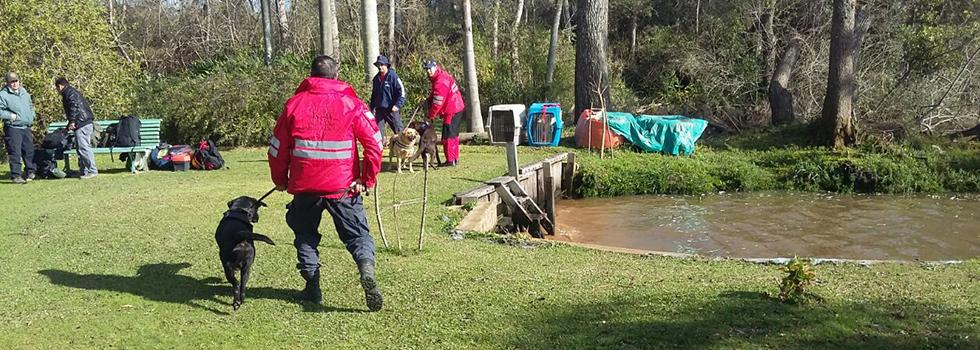 Bomberos Voluntarios colaboran en la búsqueda de Georgina y Thiago Díaz
