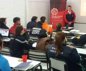 Mendoza se capacitó en el Registro Único de Bomberos de Argentina