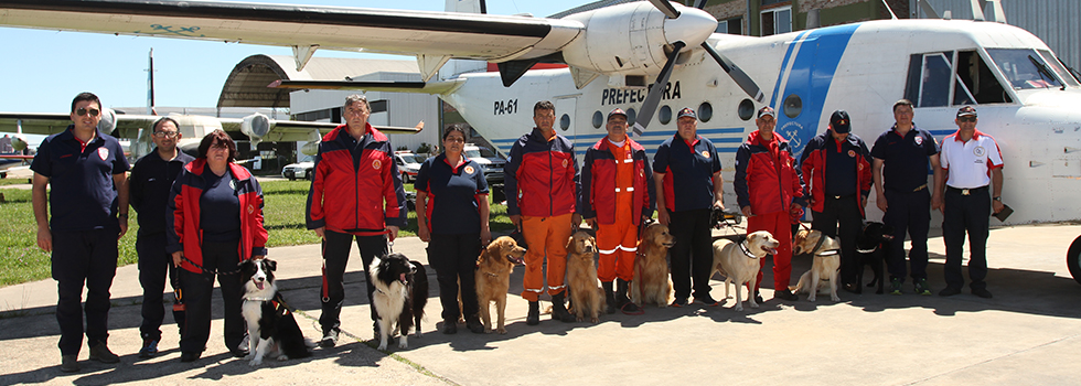 El Sistema Nacional de Bomberos Voluntarios se suma a la búsqueda de Santiago Maldonado con Brigadas Caninas