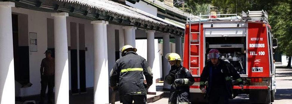 Bomberos Voluntarios apagaron un incendio en una unidad del Ejército