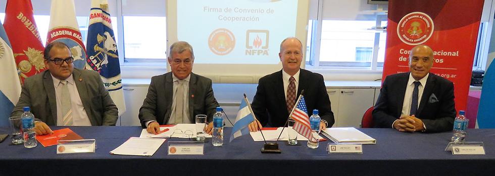 Bomberos de Argentina y NFPA trabajarán conjuntamente en la prevención de incendios