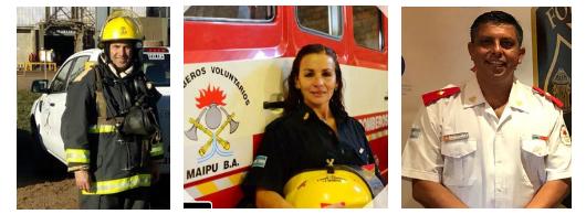 Tres bomberos argentinos obtuvieron una beca de estudios