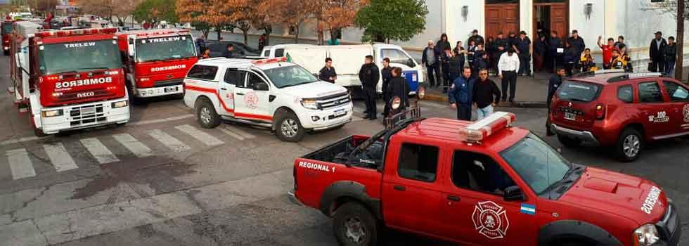 Movilización y Sirenazo en Chubut
