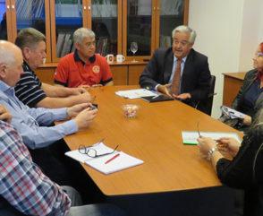 Agenda de trabajo junto a la Secretaría de Protección Civil