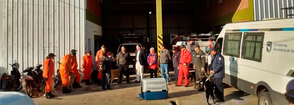 Brigadas Caninas K9 colaboran en la búsqueda de una persona desaparecida en Chaco