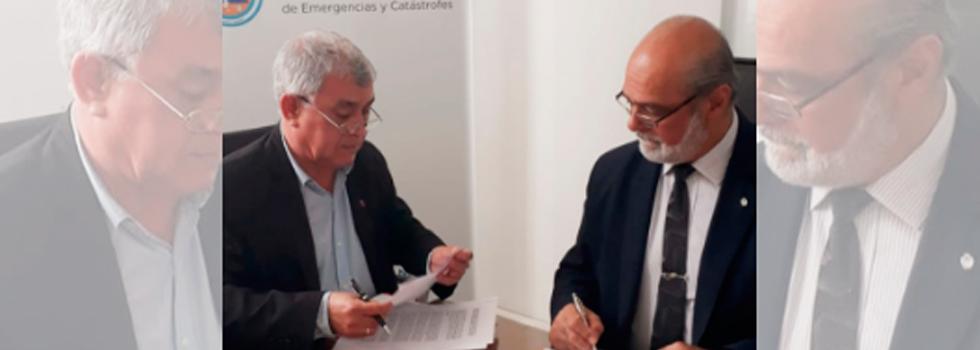 Firma de Convenio con la Secretaría de Protección Civil
