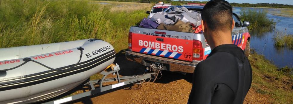 Operativo de búsqueda con Brigadas de Rescate Acuático en Entre Ríos