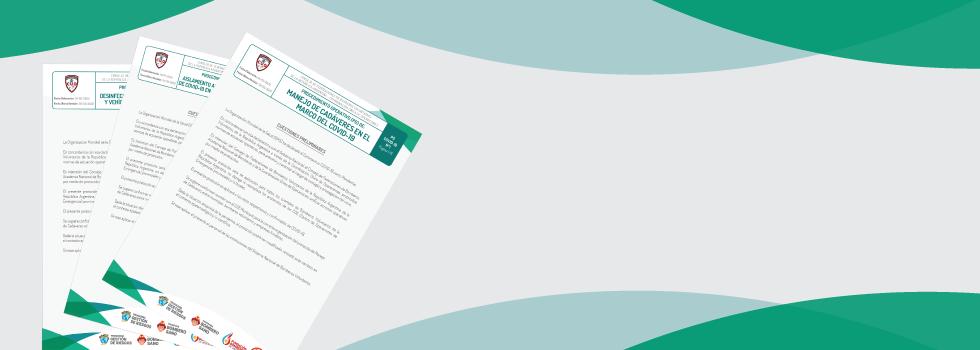 El Consejo Nacional emitió la Resolución 02/2020 que aprueba y pone en vigencia los Protocolos Operativos CUO