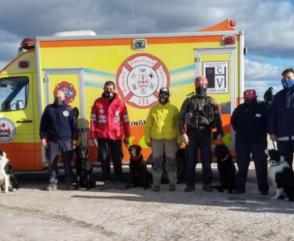 Brigada K9 participa de búsqueda en Bahía Blanca
