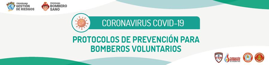 COVID-19 – Protocolos de prevención para Bomberos Voluntarios