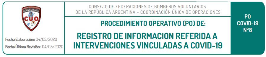 Registro de información referida a intervenciones
