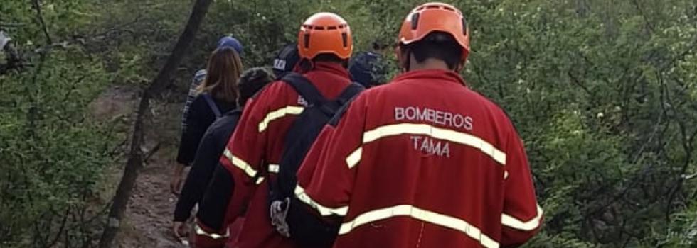 BBVV de Tama rescata con vida a 4 personas extraviadas en sierras de La Rioja