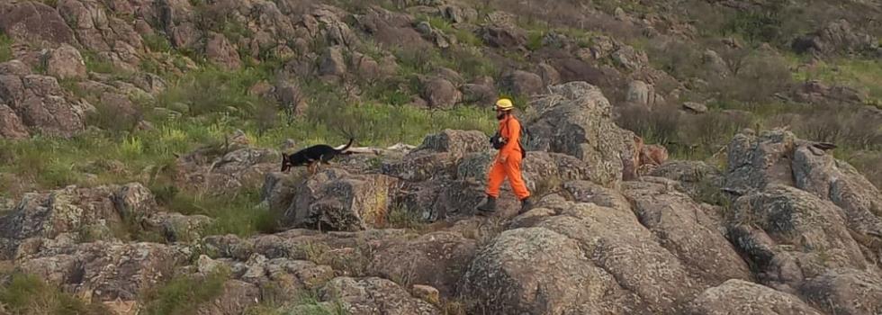 Binomios Caninos participan del operativo de búsqueda de Ivana Módica