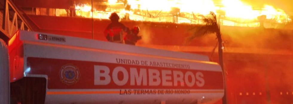 Incendio en el Autódromo de Termas de Río Hondo