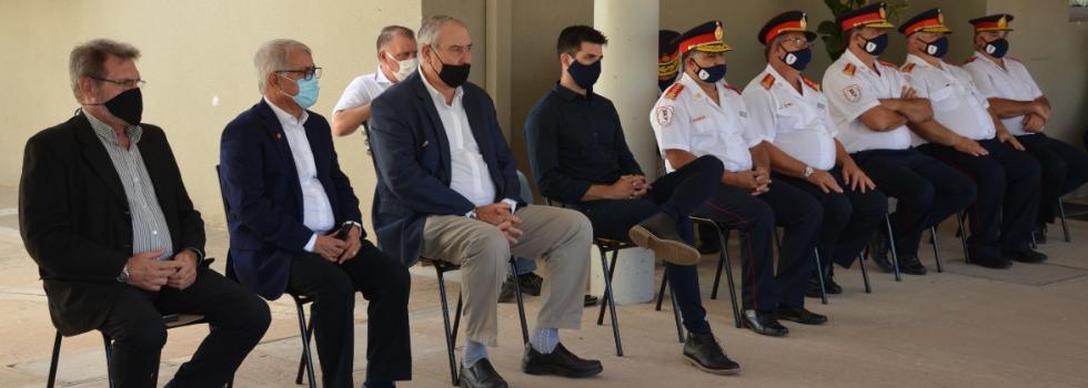 Carlos Alfonso y autoridades de Federación Santa Fe