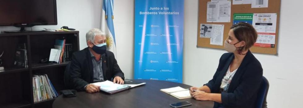 Importante reunión de trabajo ente Carlos Alfonso y Virginia Laino