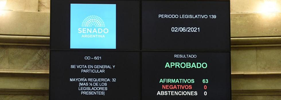 Por Unanimidad el Senado aprobó la Ley de Fortalecimiento del SNBV
