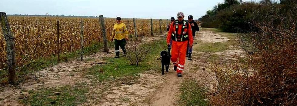 Brigada Canina realizó una búsqueda en Chaco